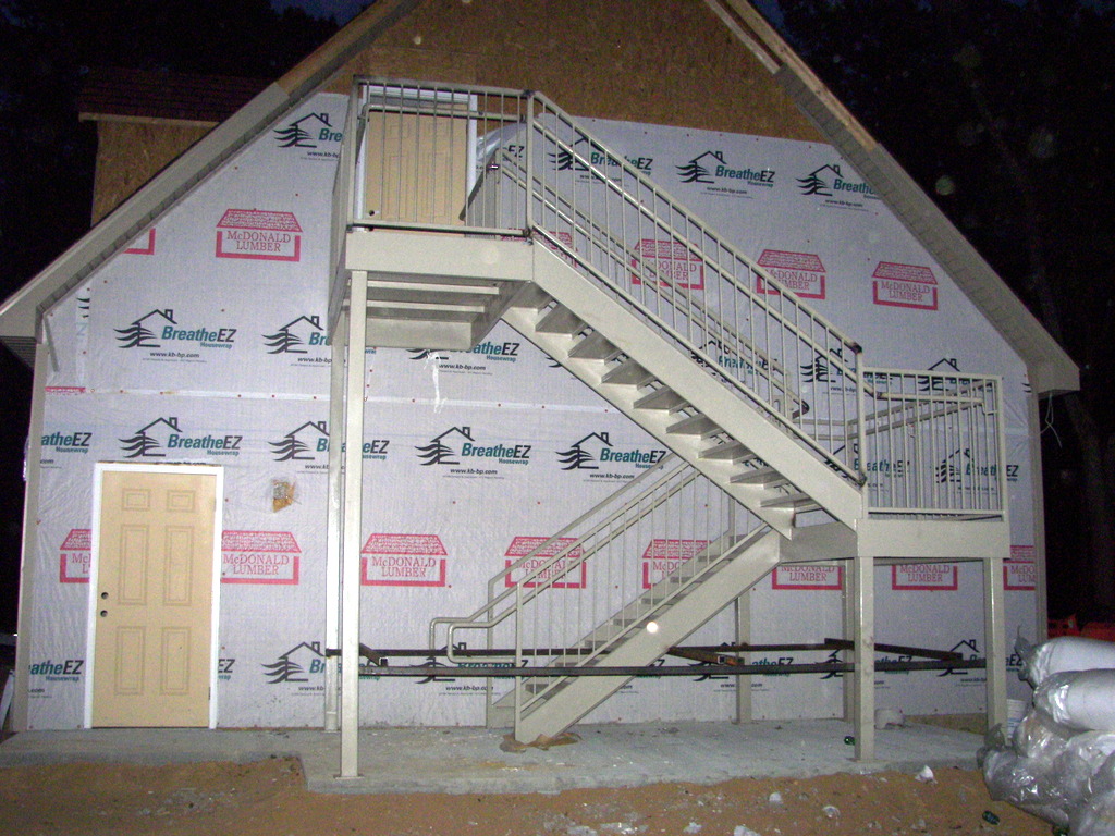 Here are a set of stairs for a home office.
